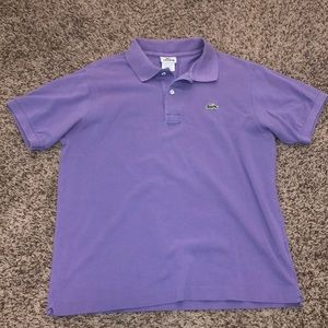 Men's Lacoste Polo size small light purple